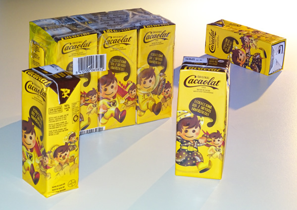 Packaging Cacaolat.